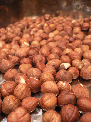 hazelnuts before roasting