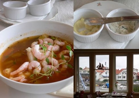 fish soup with aioli at Cafe Emma in Mollosund