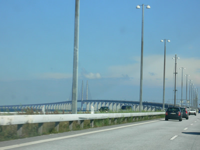 the bridge from Copenhagen to Malmo