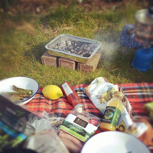 Allotment barbeque
