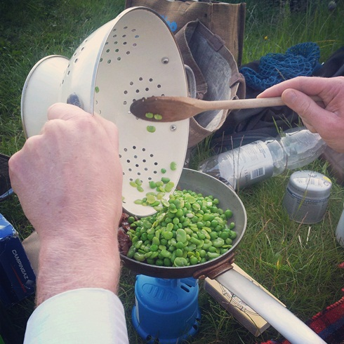 Cooking at the allotment