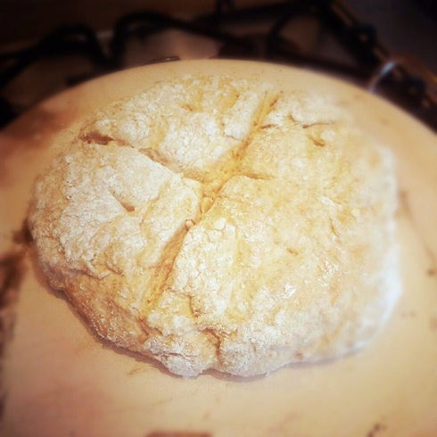 Homemade soda bread dough