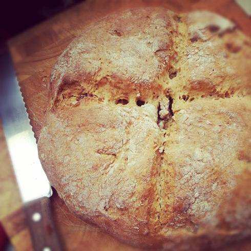 Freshly baked soda bread