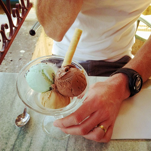 Ice cream at Brantome